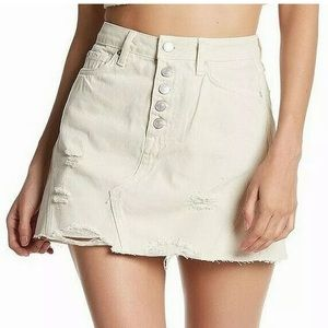 Free People Distressed Skirt